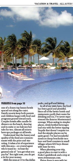 Maya Riviera Travel Article